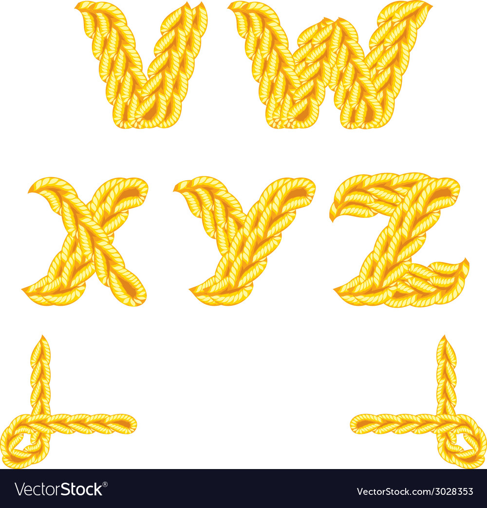 Knitted alphabet v z vector | Price: 1 Credit (USD $1)