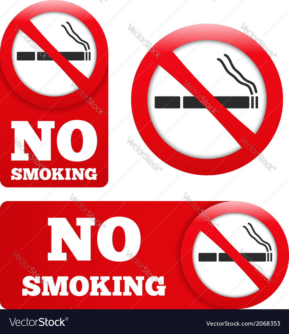No smoking signs vector | Price: 1 Credit (USD $1)
