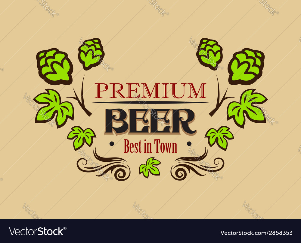 Premium beer banner or emblem vector | Price: 1 Credit (USD $1)