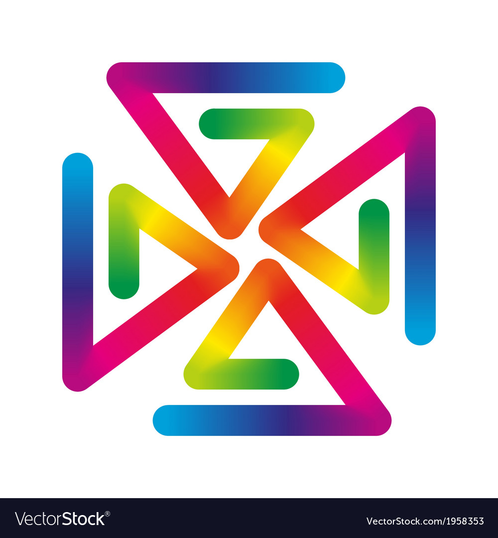 Rainbow pinwheel vector | Price: 1 Credit (USD $1)