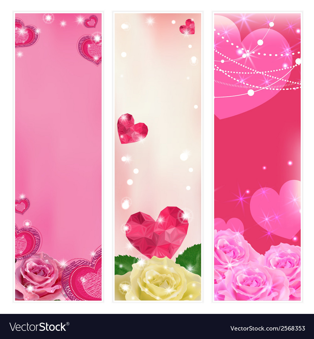 Set of love banners elements for design vector | Price: 1 Credit (USD $1)