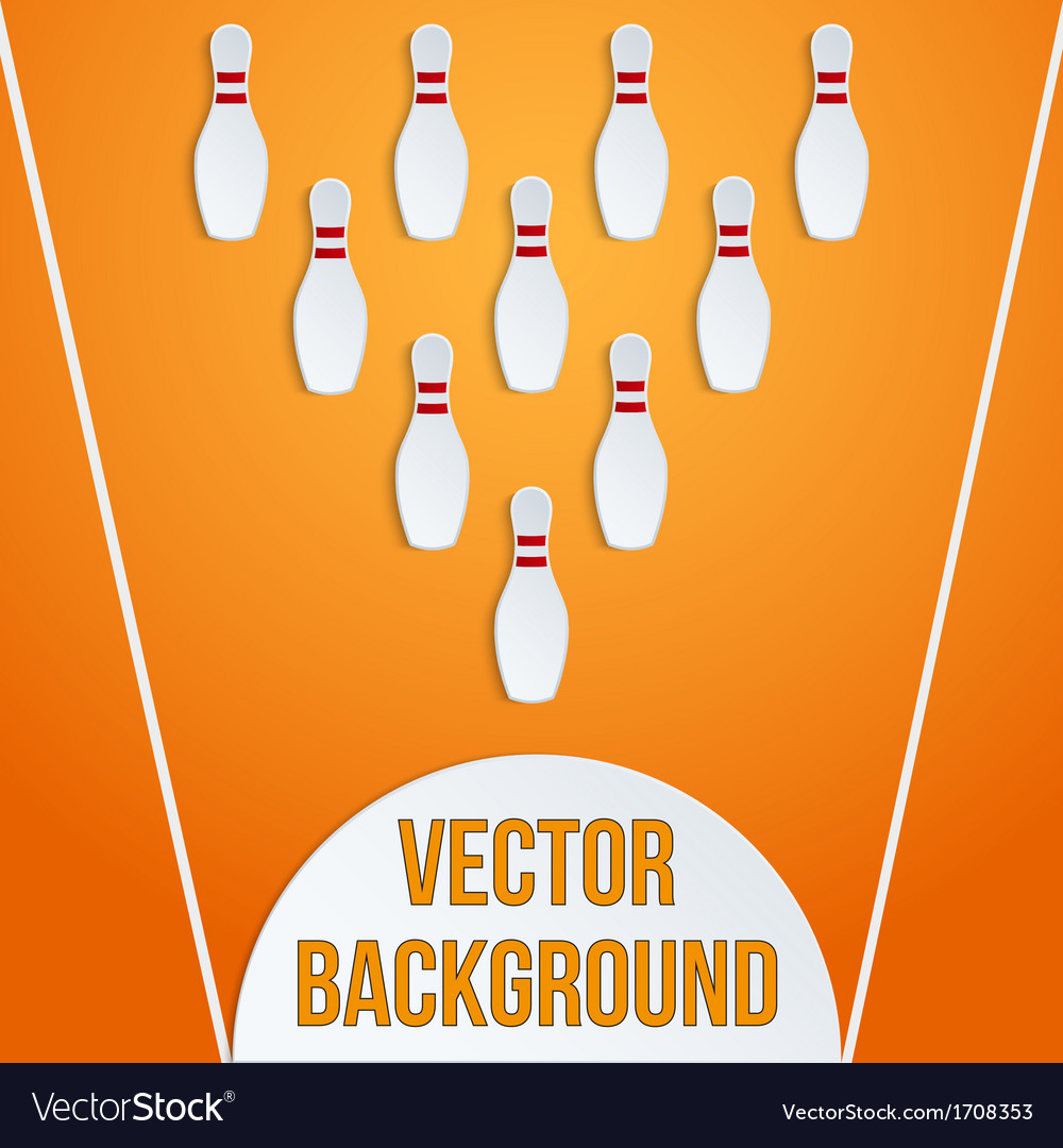 Sport with paper bowling pins and ball vector | Price: 1 Credit (USD $1)