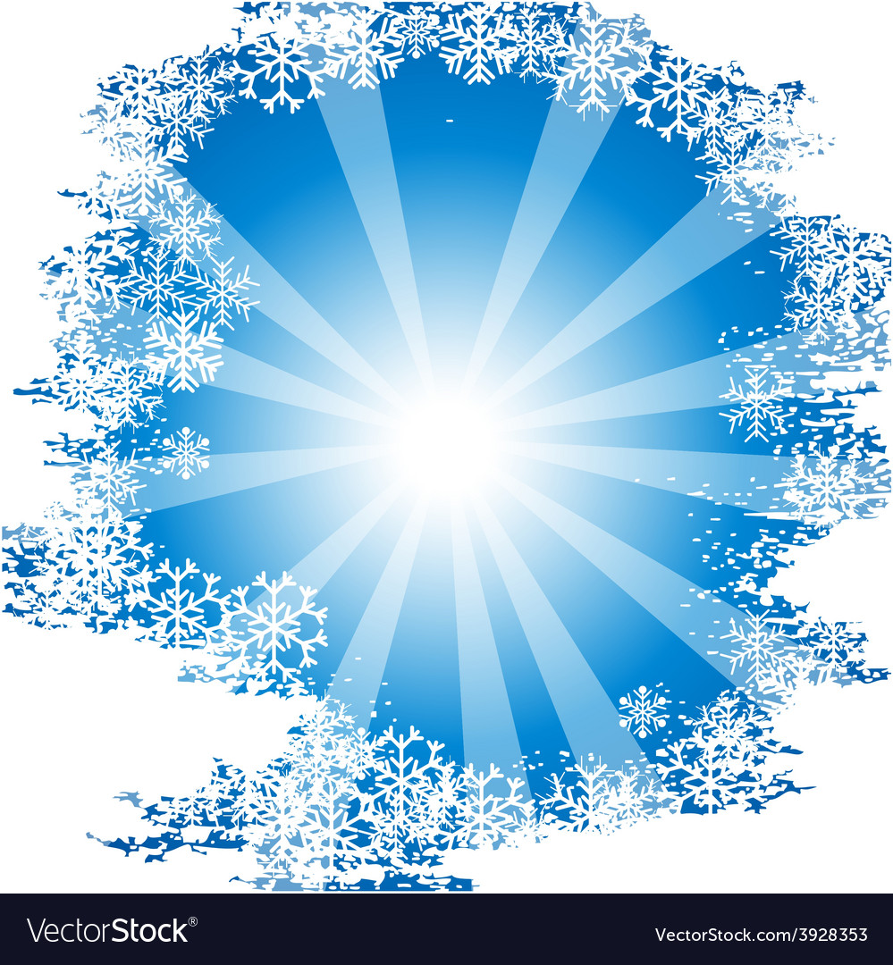 Sunny chrisrmas background vector | Price: 1 Credit (USD $1)