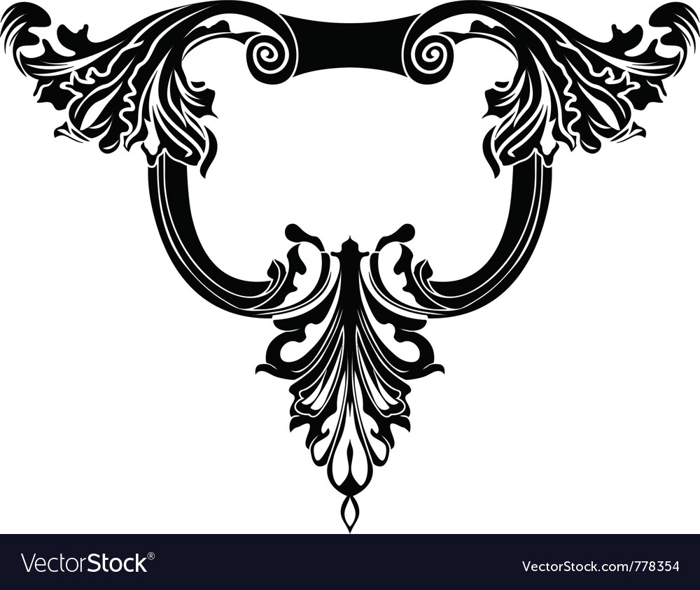 Cartouche stencil vector | Price: 1 Credit (USD $1)