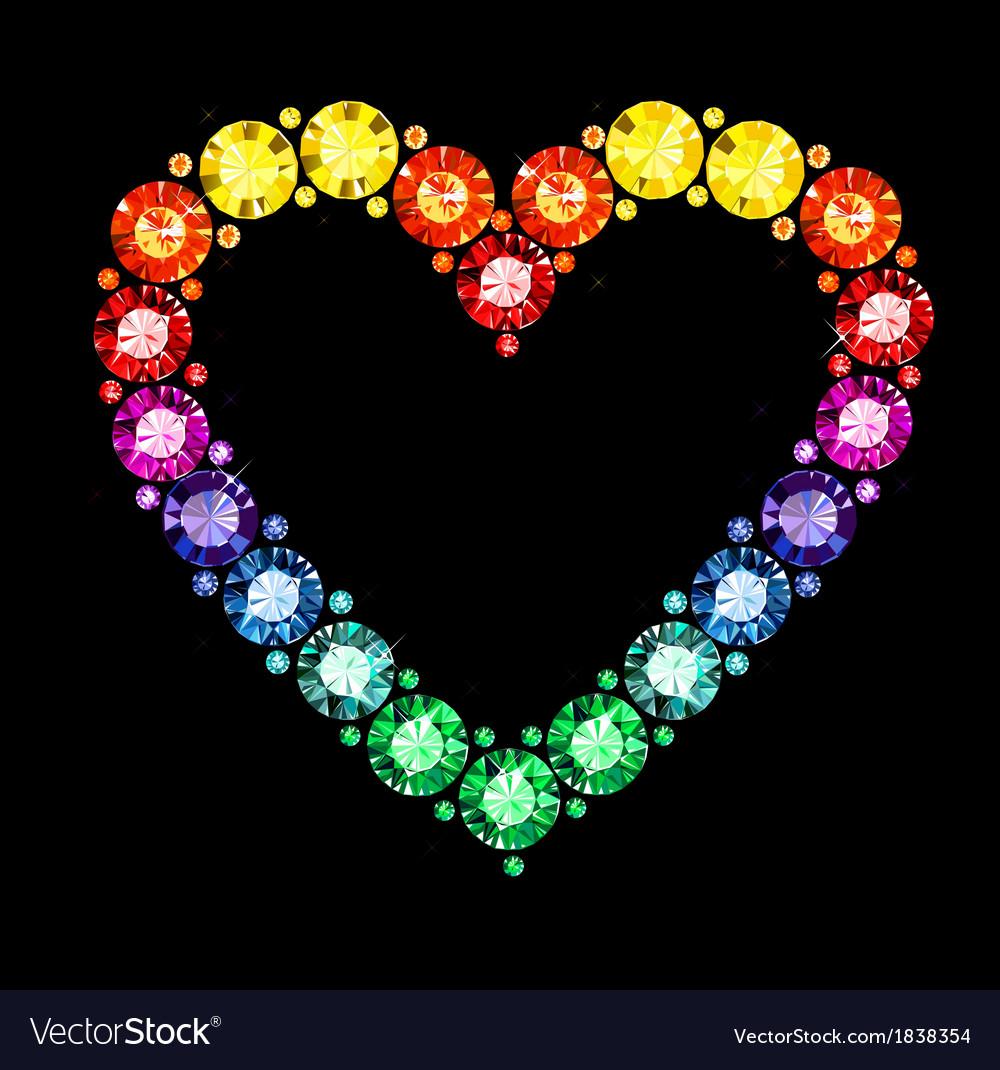 Gem heart vector | Price: 1 Credit (USD $1)