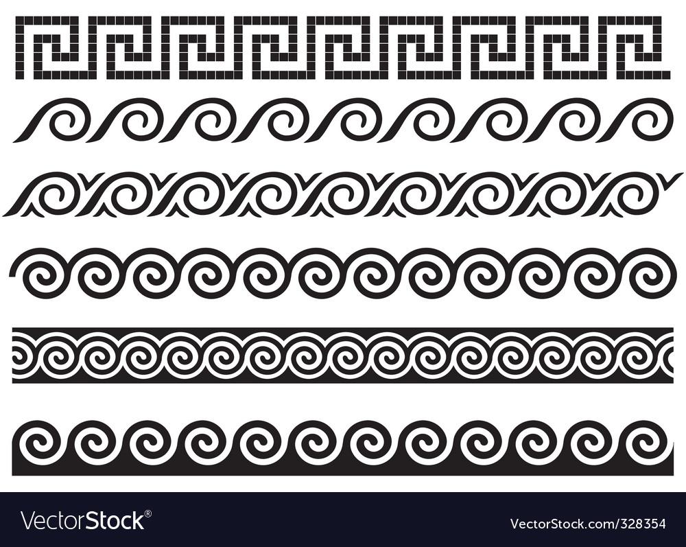 Greek design elements vector | Price: 1 Credit (USD $1)