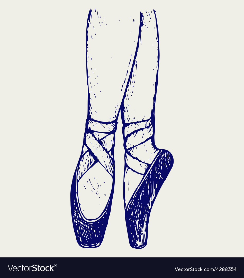 Legs and shoes of a young ballerina vector | Price: 1 Credit (USD $1)