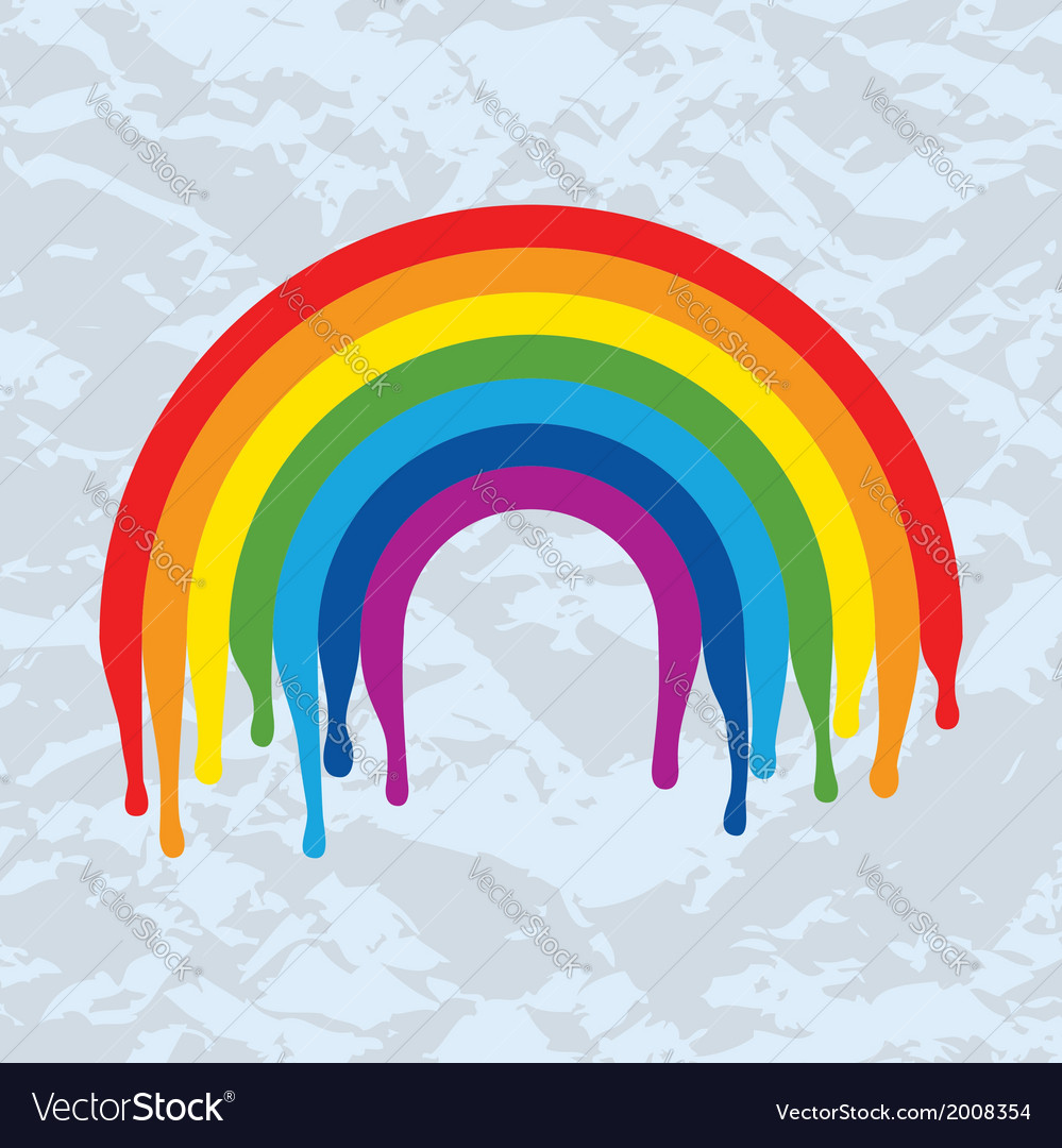 Rainbow arc painted on old paper vector | Price: 1 Credit (USD $1)