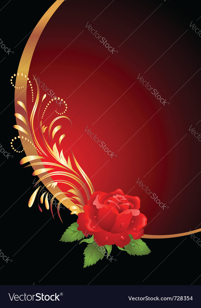 Red rose ornament vector | Price: 1 Credit (USD $1)
