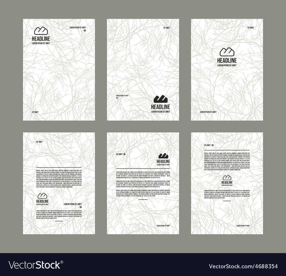 Set of poster templates vector | Price: 1 Credit (USD $1)