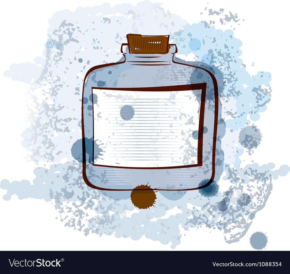 Water color jar vector | Price: 1 Credit (USD $1)