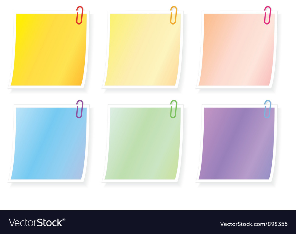 Blank notes vector | Price: 1 Credit (USD $1)
