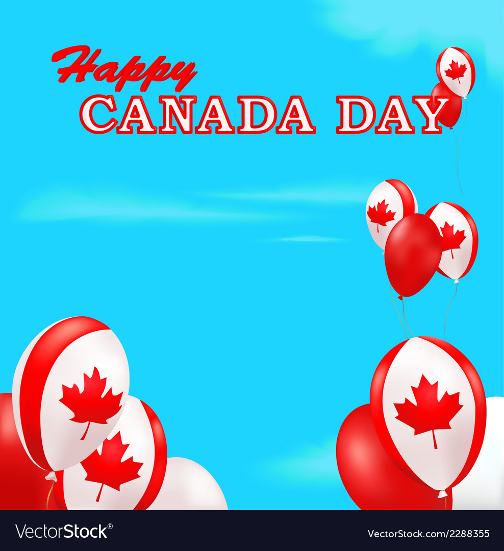 Canada day background vector | Price: 1 Credit (USD $1)