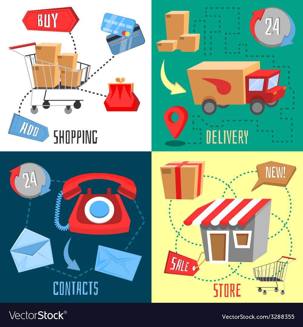 Design concept of e-commerce vector | Price: 3 Credit (USD $3)