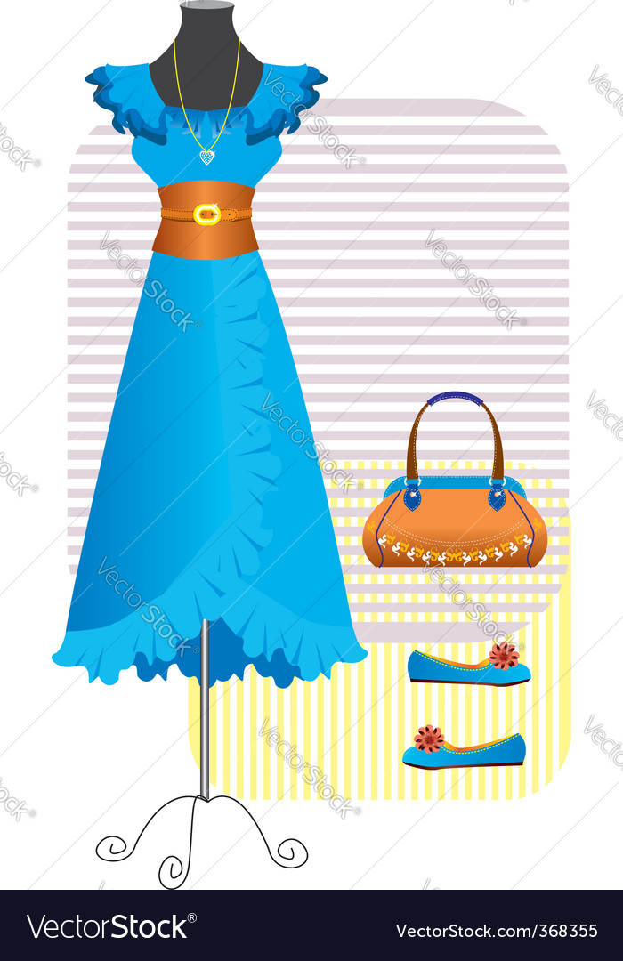 Fashion clothes for woman vector | Price: 1 Credit (USD $1)