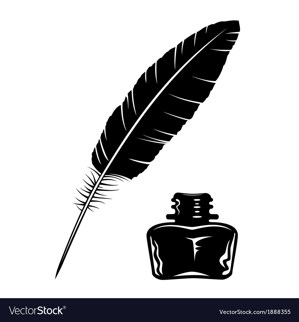 Feather and ink bottle vector | Price: 1 Credit (USD $1)