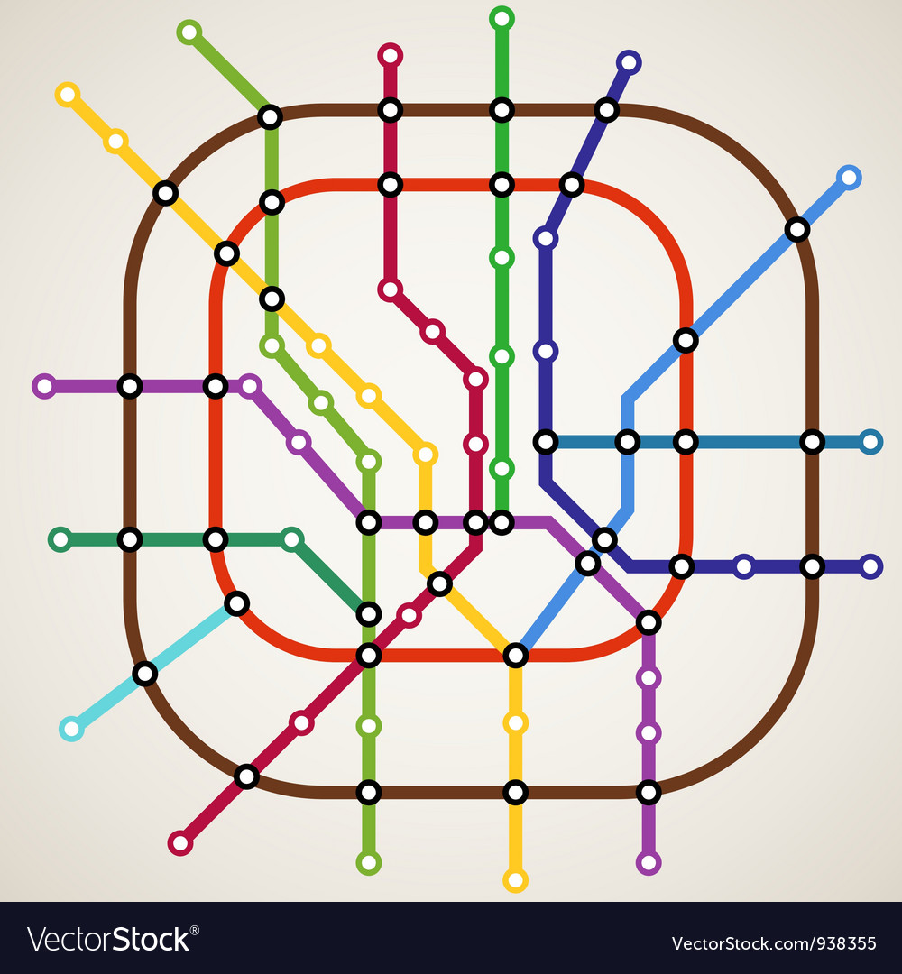Metro route map vector | Price: 1 Credit (USD $1)
