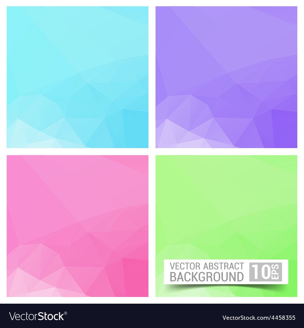 Set of four colorful abstract geometric background vector | Price: 1 Credit (USD $1)
