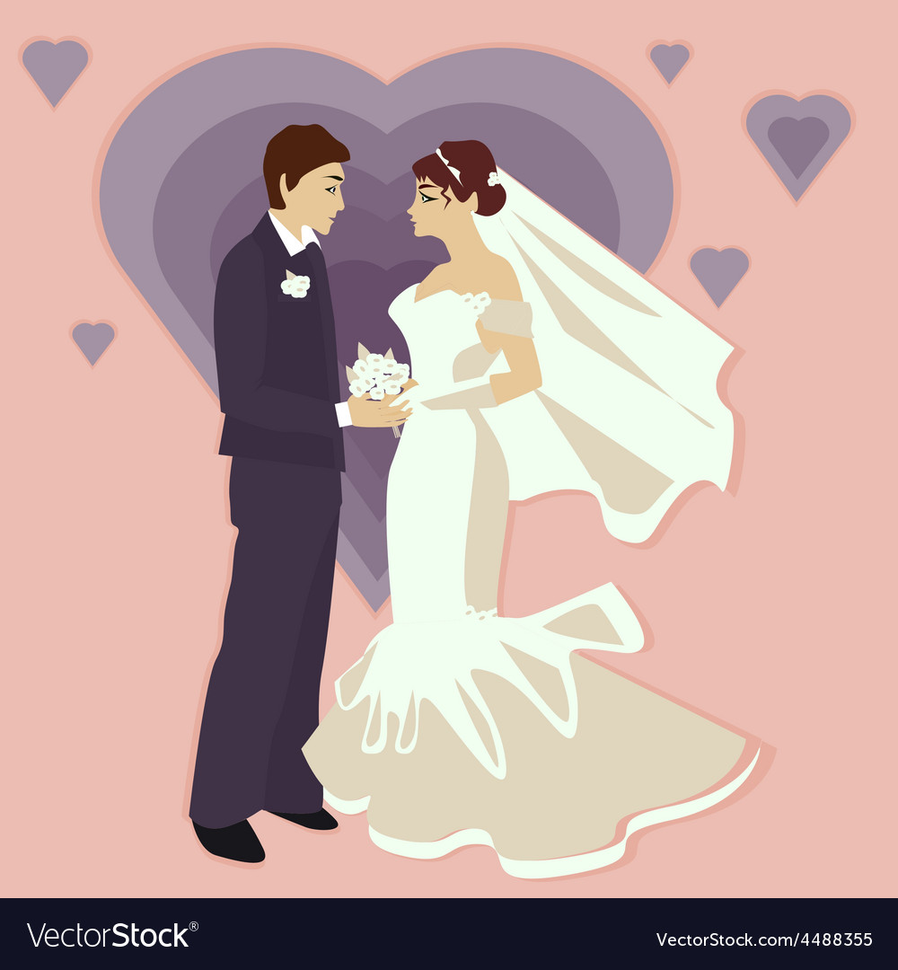 Wedding in a flat style vector | Price: 1 Credit (USD $1)