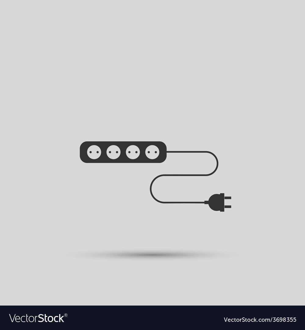 Wire socket and electric plug design vector | Price: 1 Credit (USD $1)