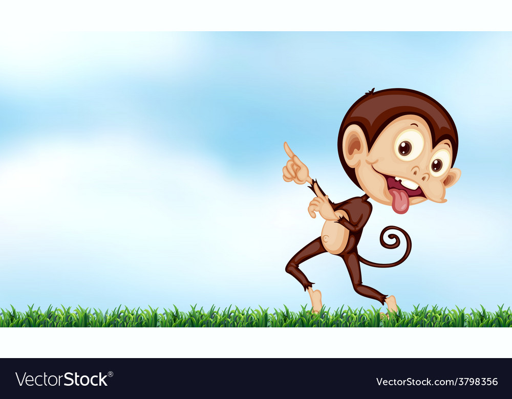 A playful monkey vector | Price: 1 Credit (USD $1)