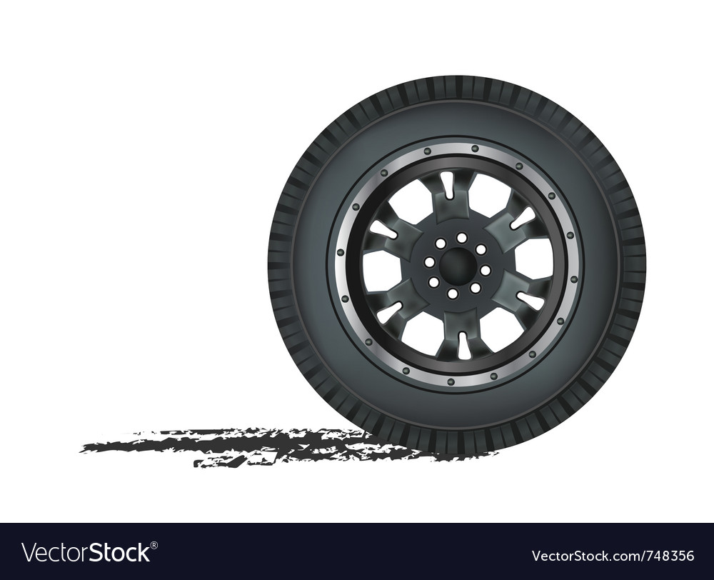 Auto wheel vector | Price: 1 Credit (USD $1)
