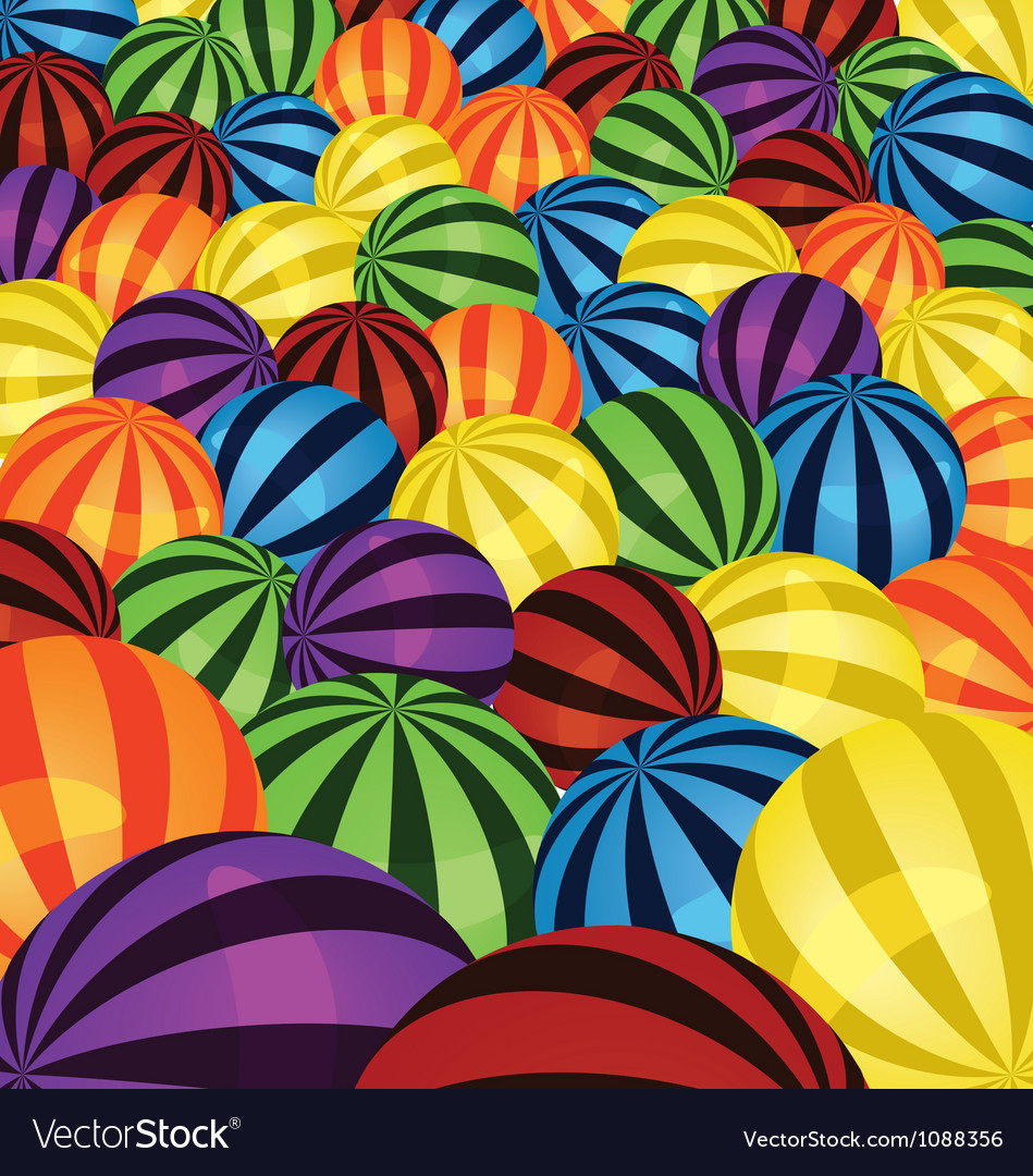 Colorful balls background vector | Price: 1 Credit (USD $1)
