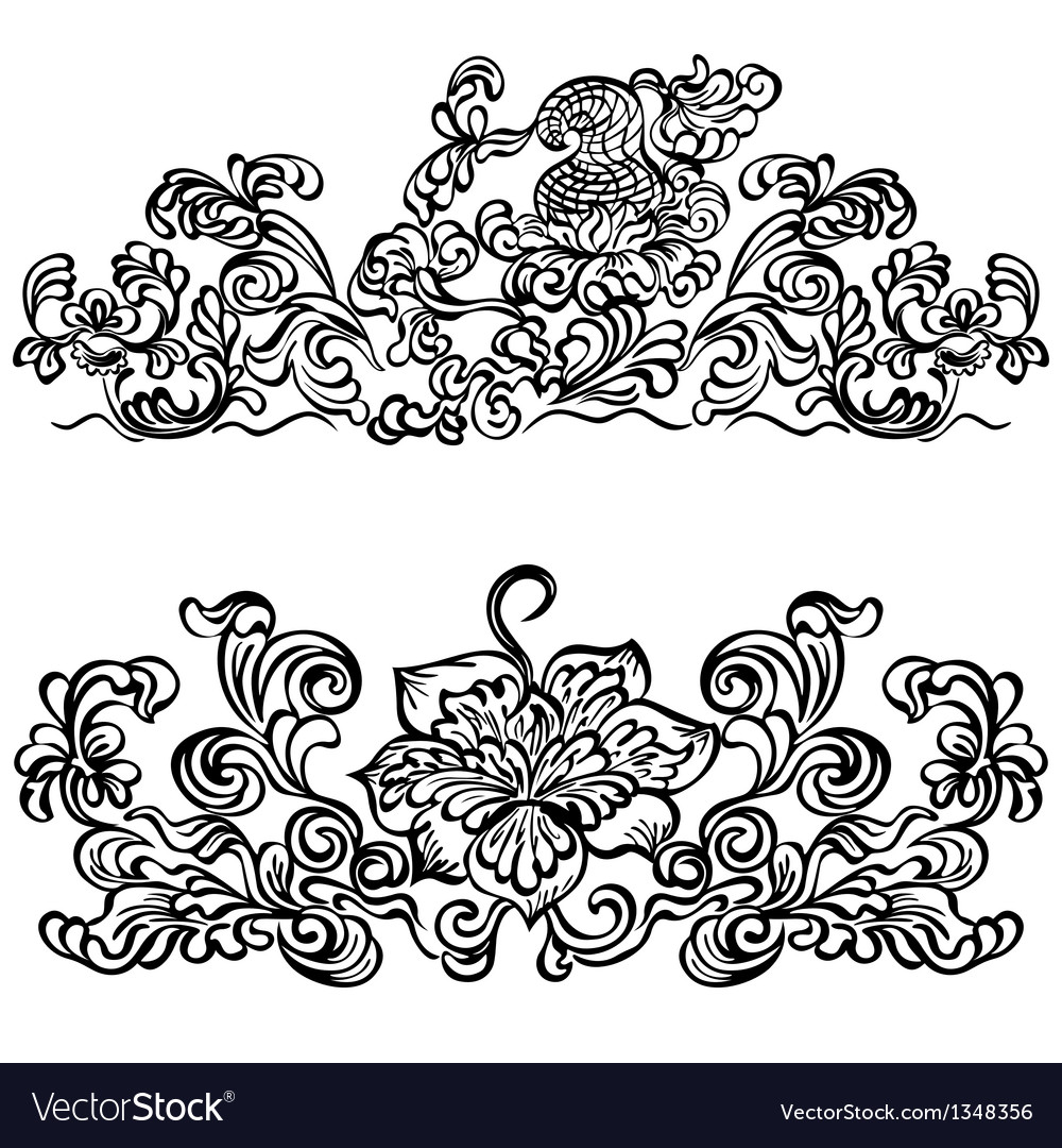 Design ornament floral motifs vector | Price: 1 Credit (USD $1)