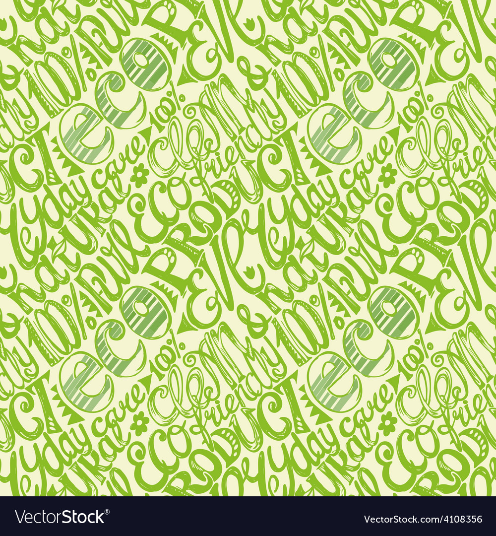 Eco friendly concept-seamless hand drawn pattern vector | Price: 1 Credit (USD $1)