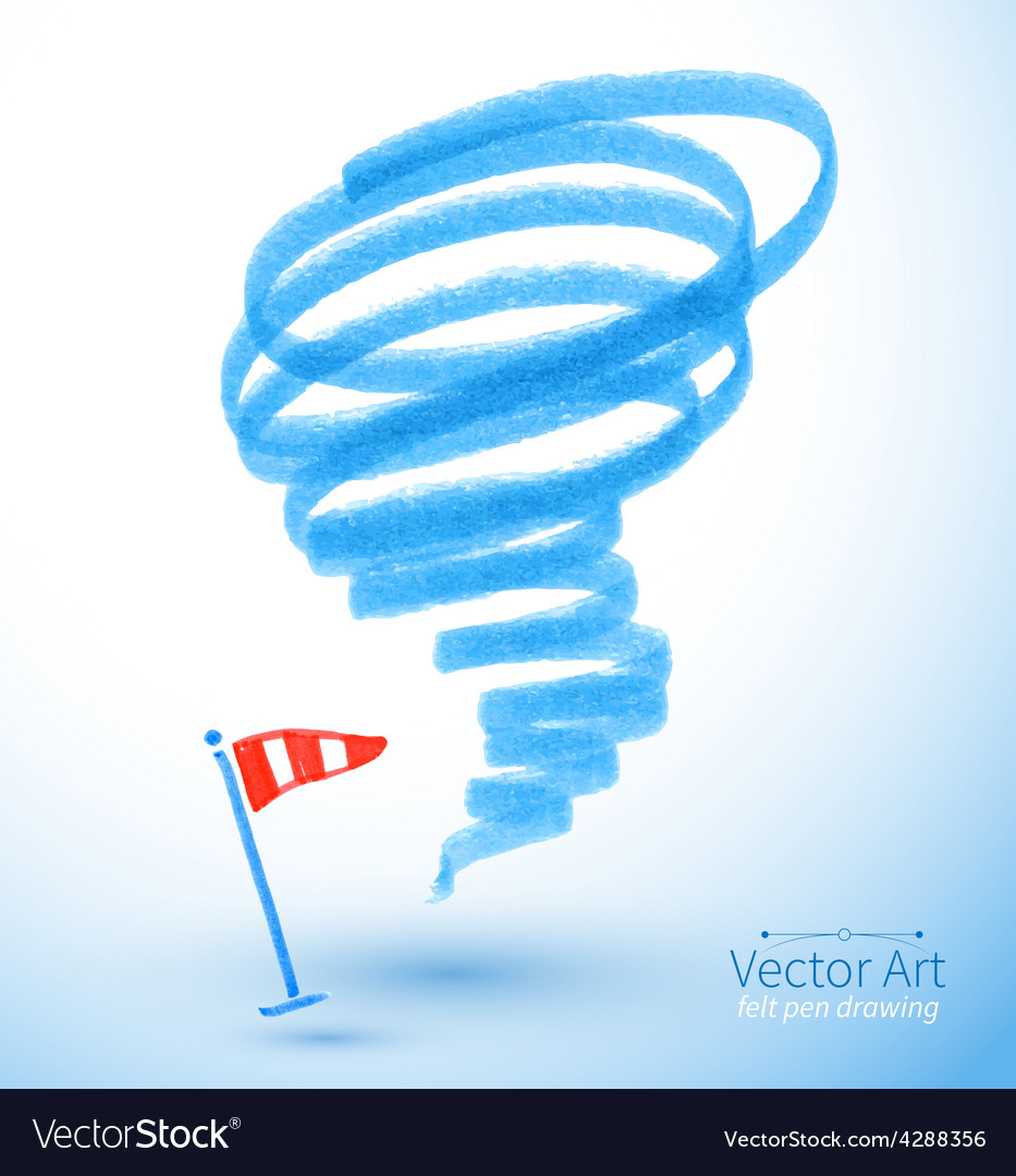 Felt pen drawing of storm vector | Price: 1 Credit (USD $1)