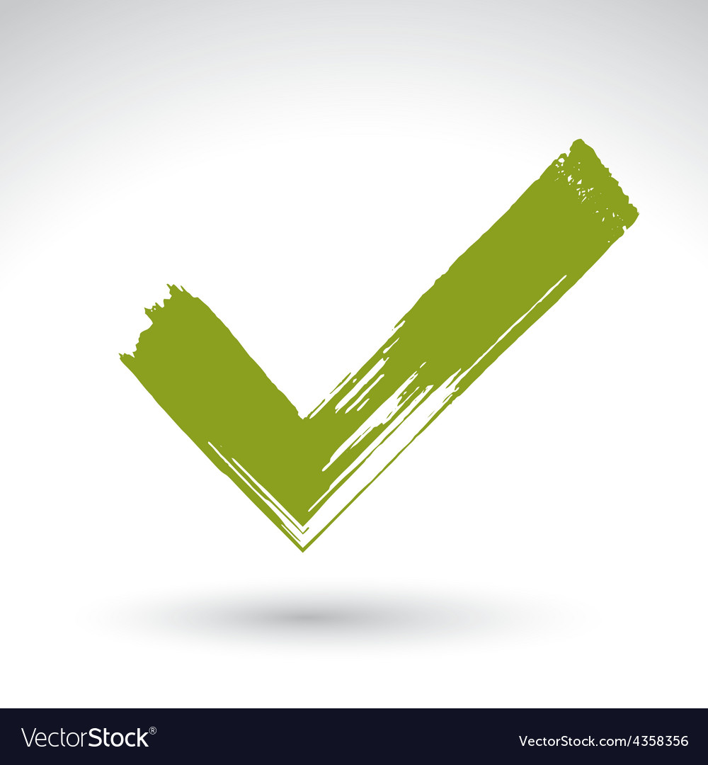 Hand drawn validation icon scanned and brush vector | Price: 1 Credit (USD $1)