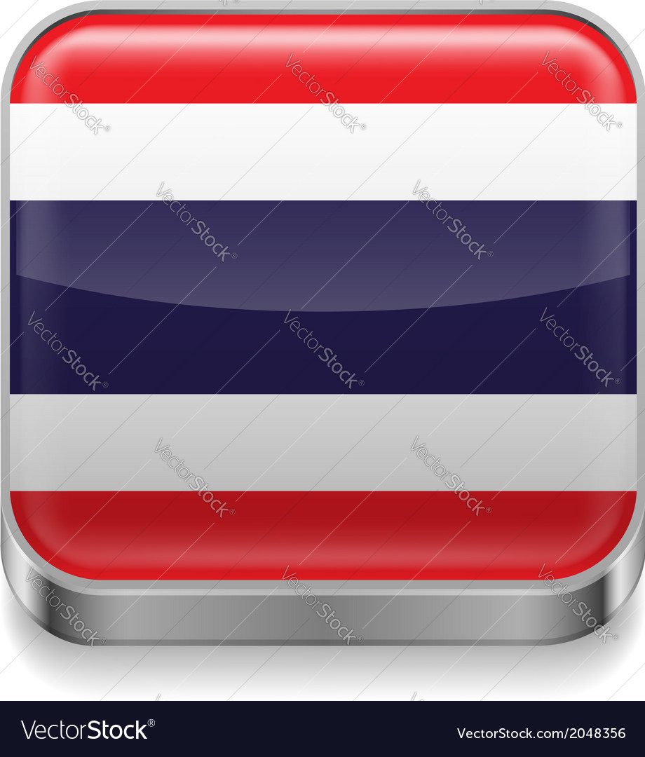 Metal icon of thailand vector | Price: 1 Credit (USD $1)