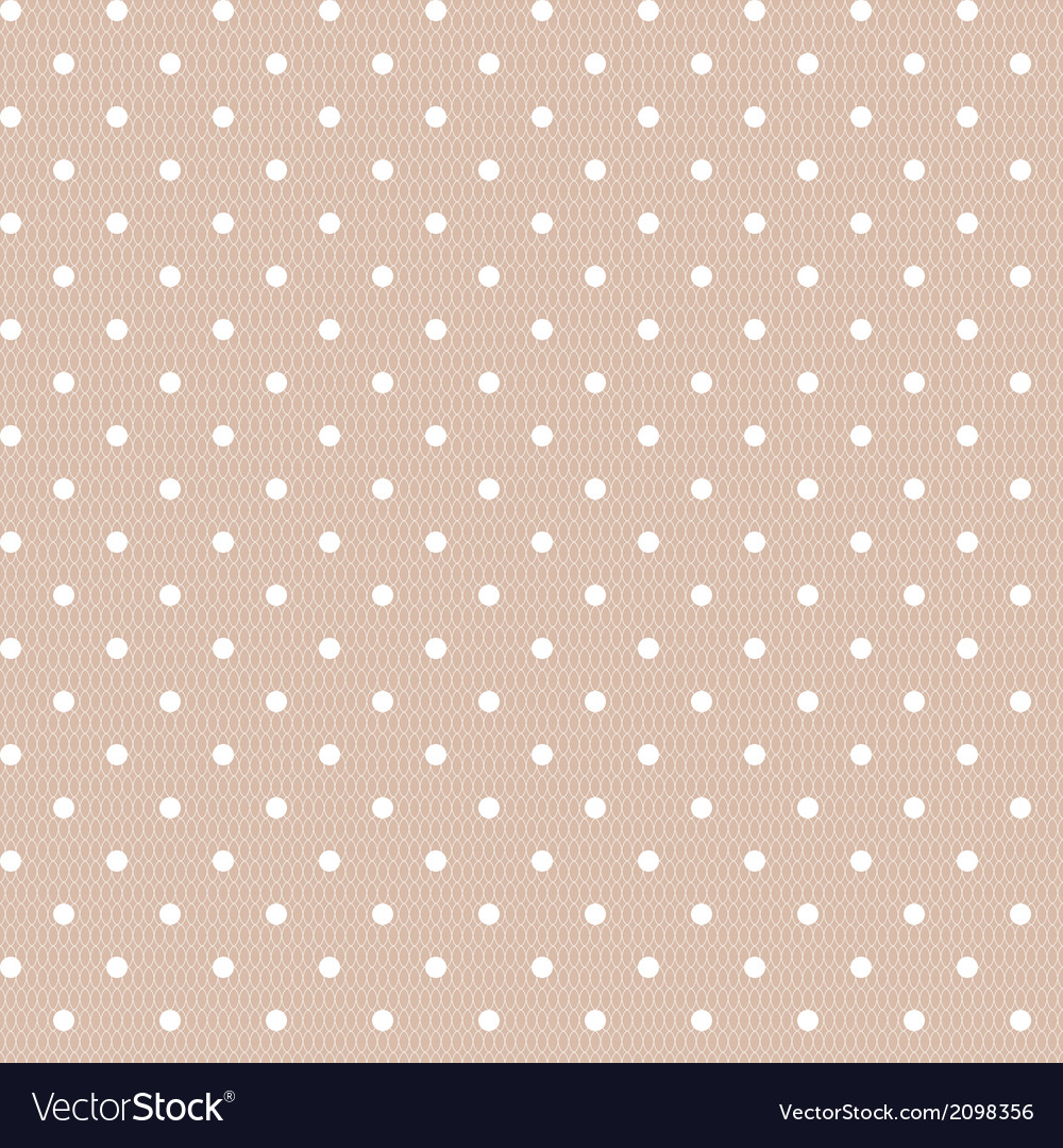Seamless polka dot vintage pattern vector | Price: 1 Credit (USD $1)
