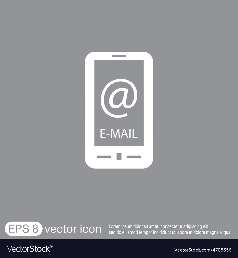 Smartphone with the symbol mail vector   Price: 1 Credit (USD $1)