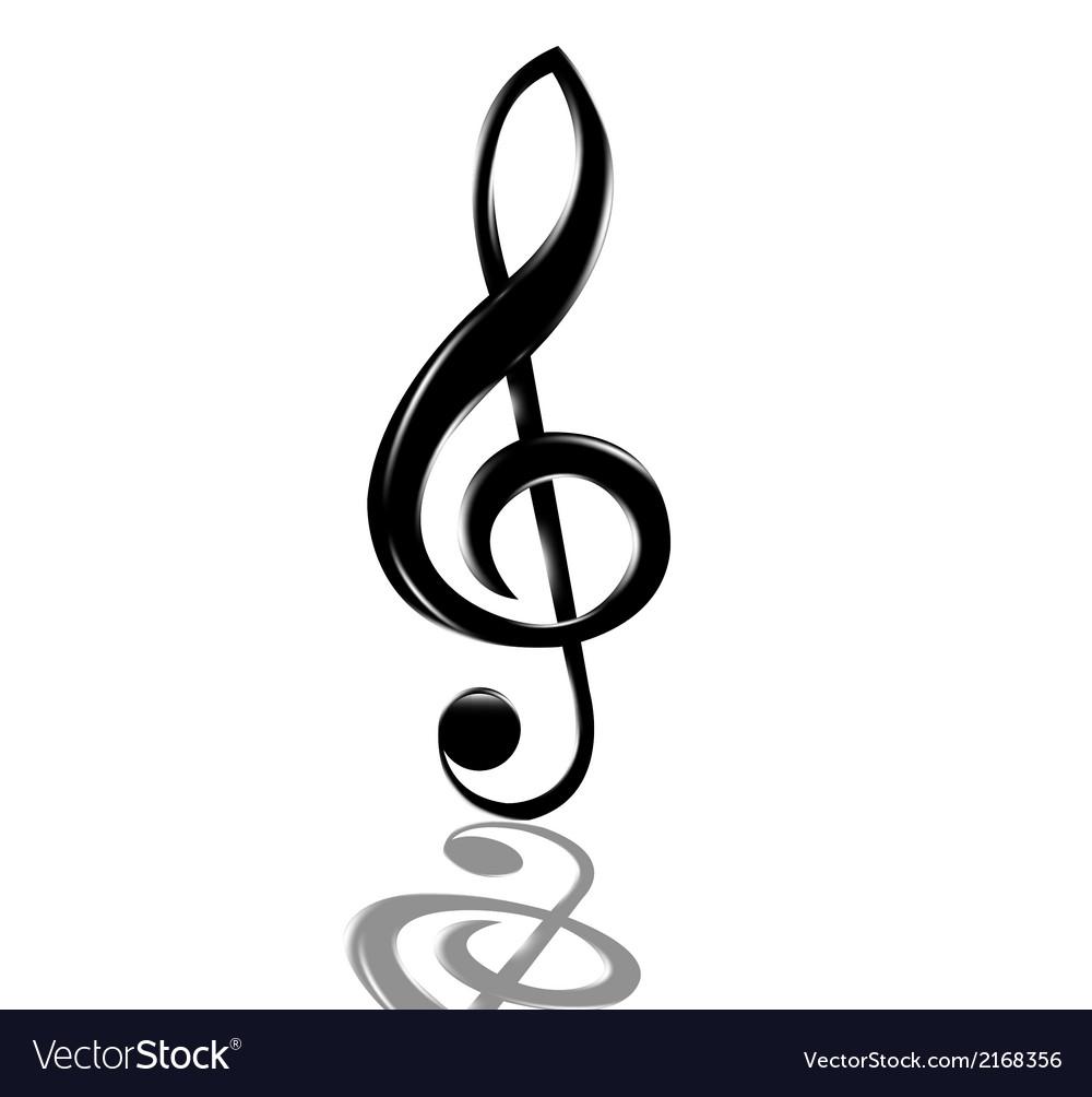 Treble clef vector | Price: 1 Credit (USD $1)