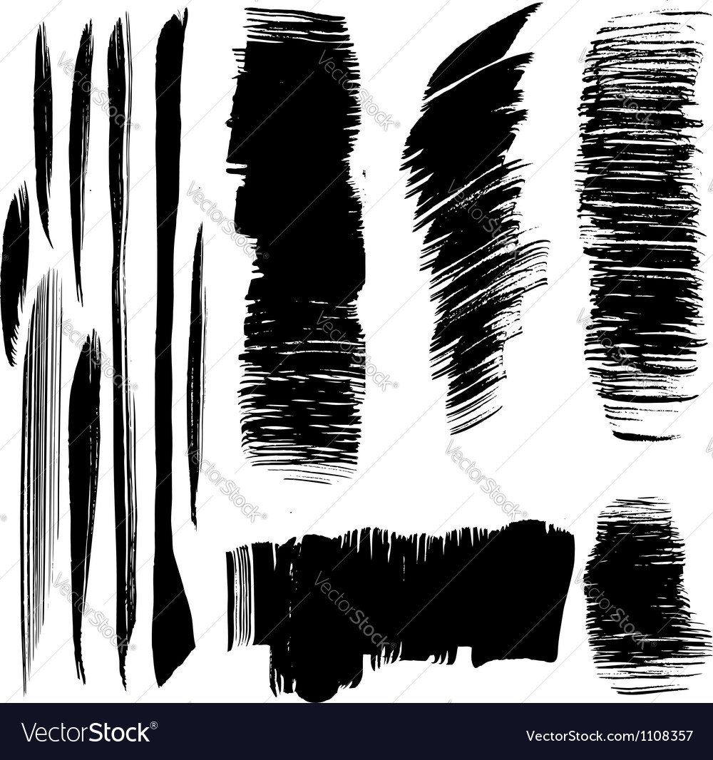 Abstract black brush strokes vector | Price: 1 Credit (USD $1)