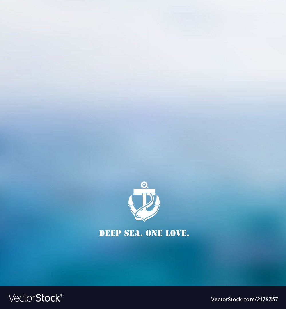 Abstract blue sea background vector | Price: 1 Credit (USD $1)