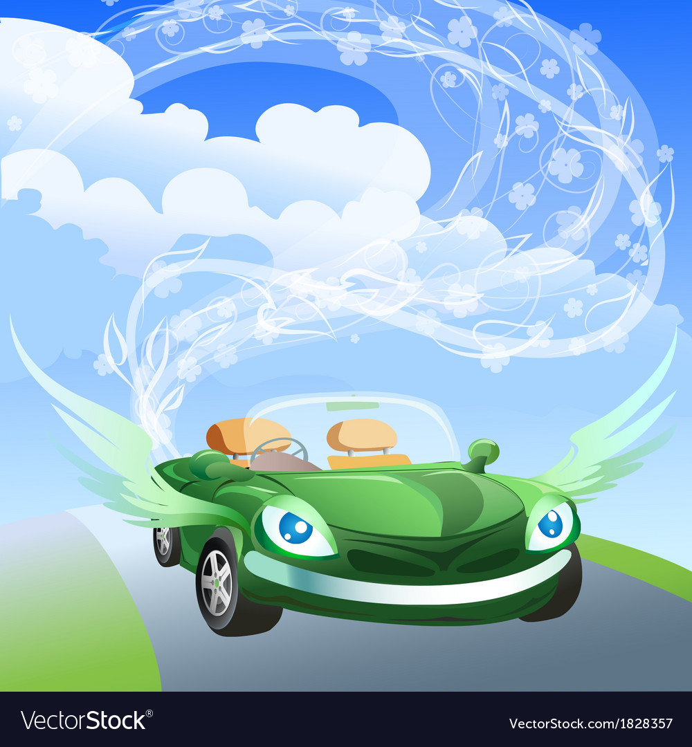 Environmentally friendly car vector | Price: 1 Credit (USD $1)