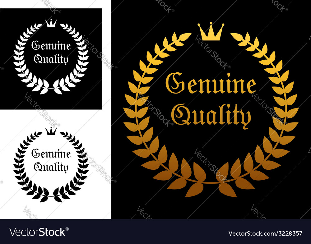 Genuine quality label vector | Price: 1 Credit (USD $1)