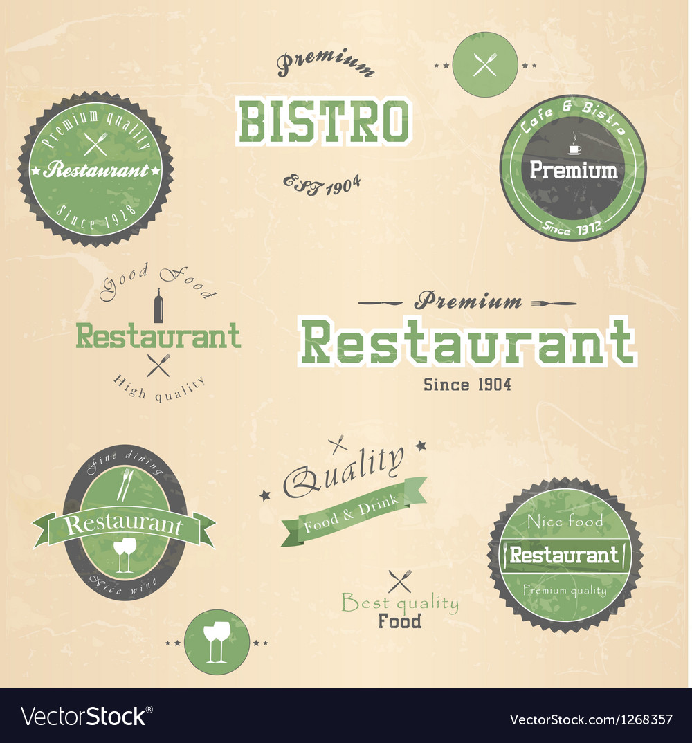 Restaurant badge vector | Price: 1 Credit (USD $1)