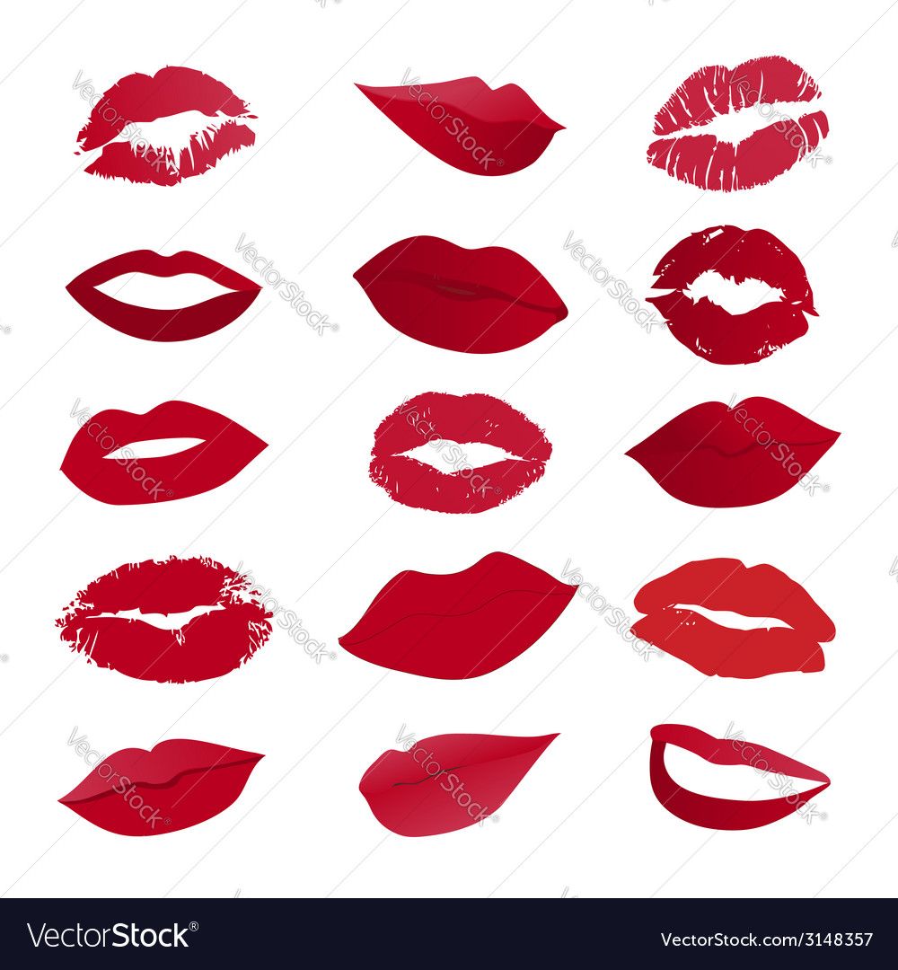 Set of lips vector | Price: 1 Credit (USD $1)