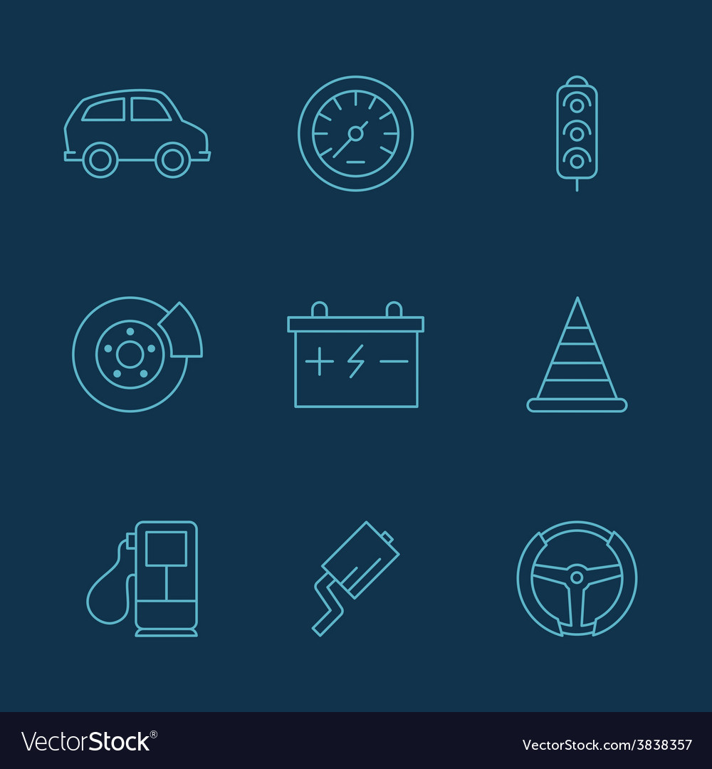 Simple set of auto related icons for your vector   Price: 1 Credit (USD $1)
