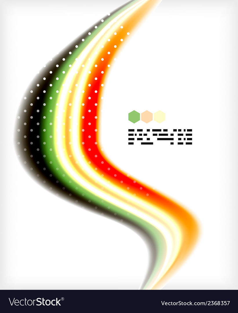 Smooth colorful business elegant wave design vector | Price: 1 Credit (USD $1)