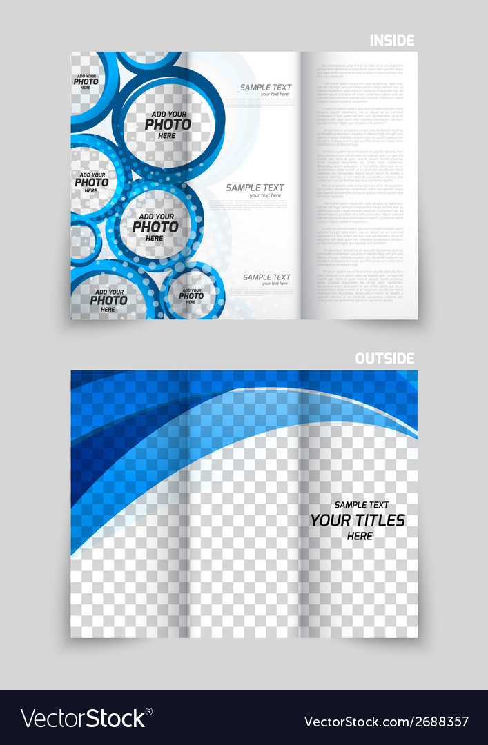 Tri-fold brochure vector | Price: 1 Credit (USD $1)