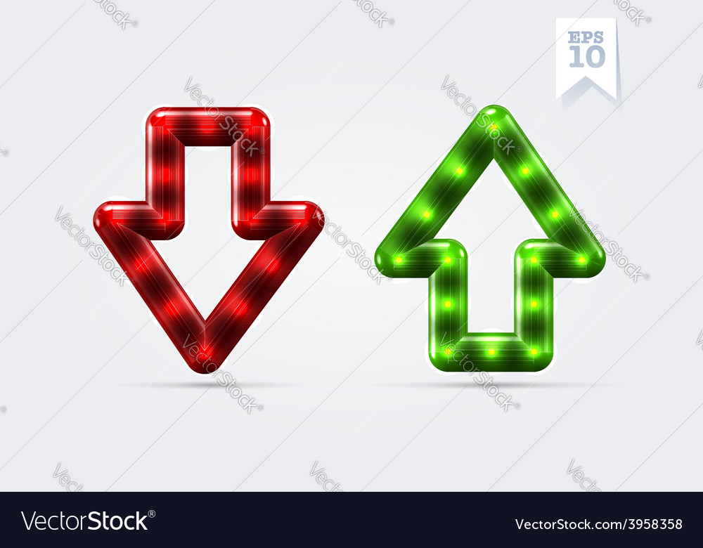 Arrows up and down icons vector | Price: 1 Credit (USD $1)
