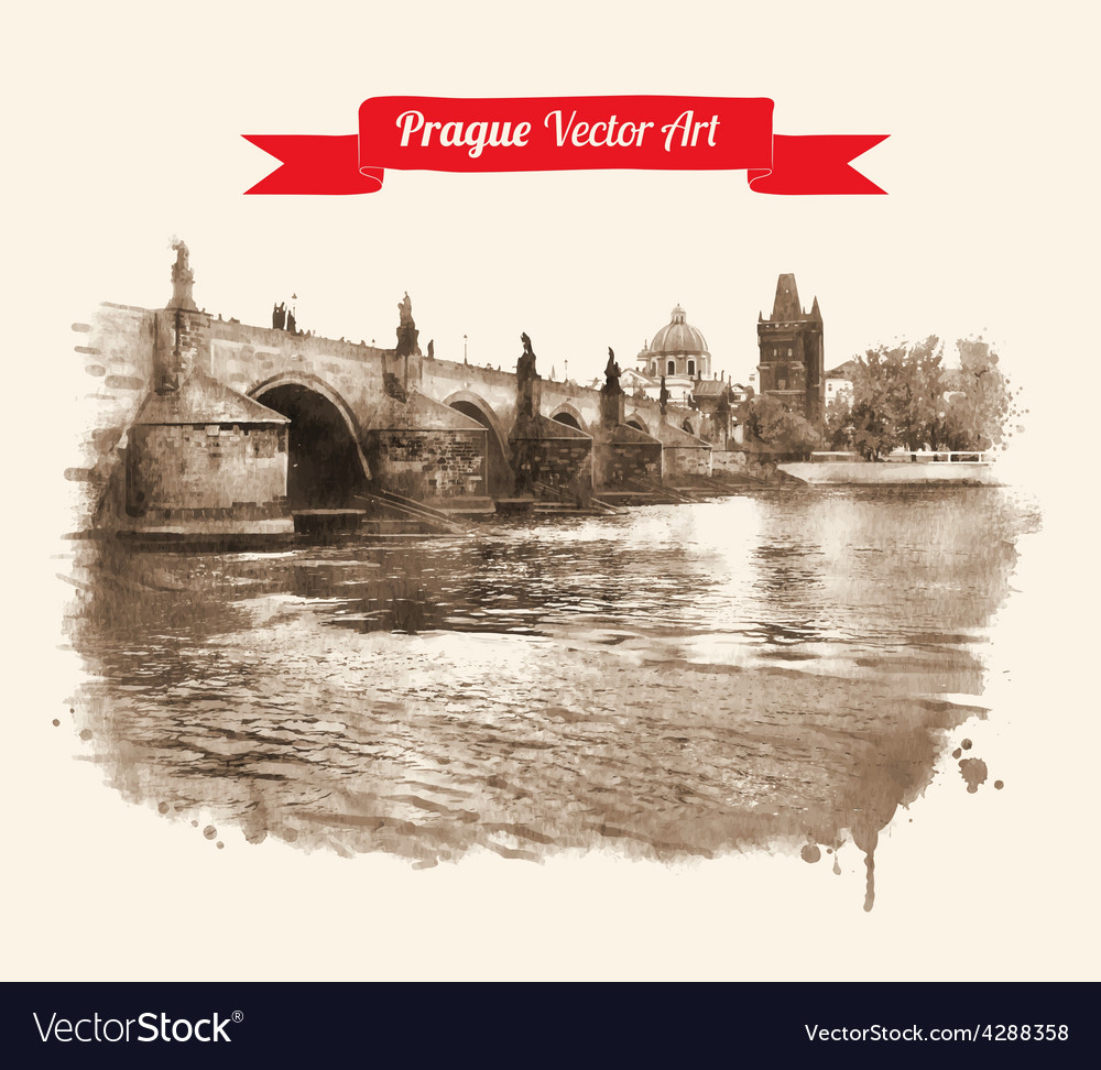 Charles bridge vector | Price: 1 Credit (USD $1)