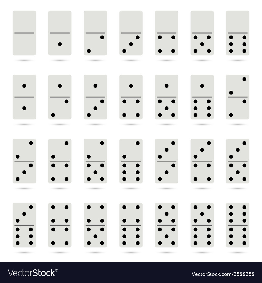 Collection of old fashioned domino set vector | Price: 1 Credit (USD $1)