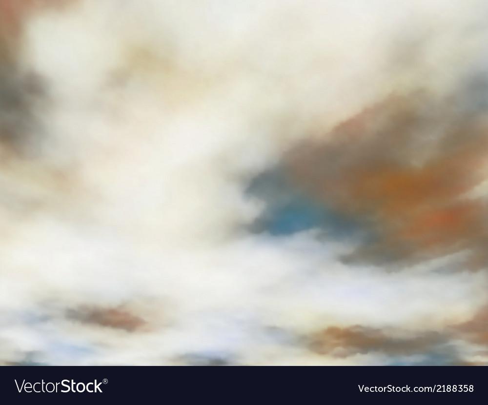 Creamy clouds vector | Price: 1 Credit (USD $1)