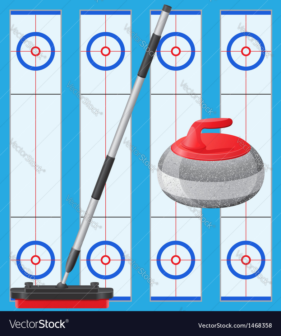 Curling 01 vector | Price: 1 Credit (USD $1)