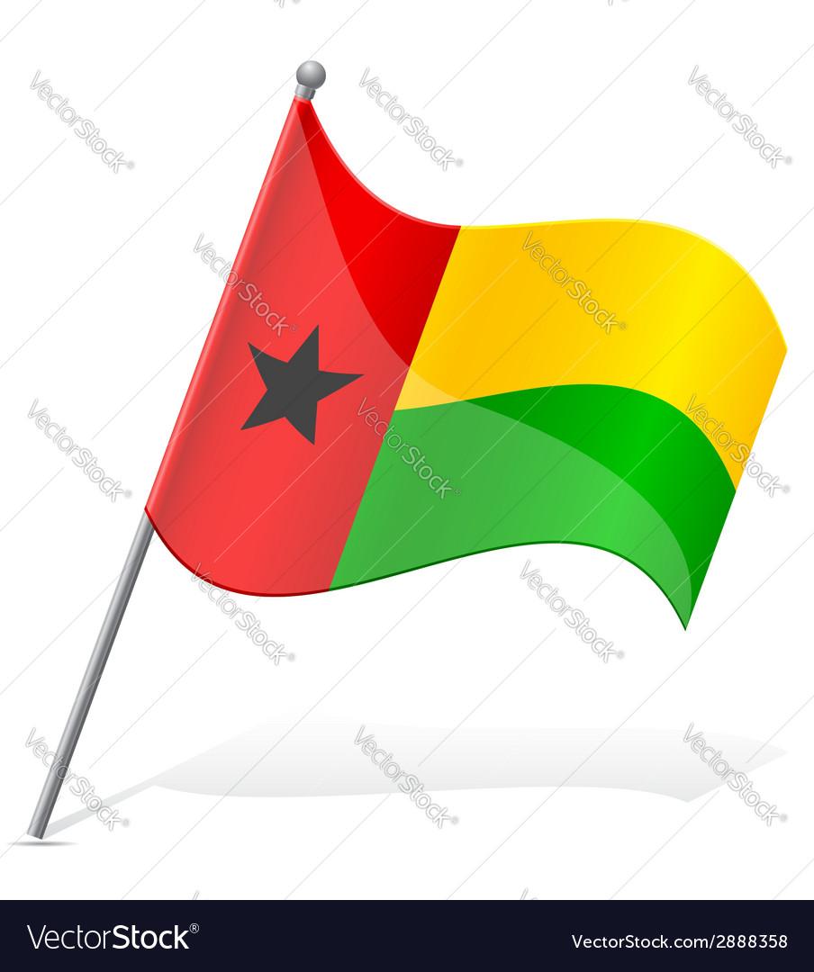 Flag of guinea bissau vector | Price: 1 Credit (USD $1)